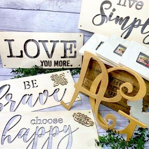 NEW Unfinished Craft Wood Project Bundle